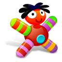 colored, doll, red icon