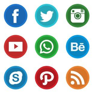 Social var 2 icon sets preview