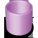 purple, trash, blank, empty, recycle bin icon