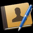Address, Alt, Blue, Book icon