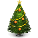 winter, tree, christmas, december, holiday icon