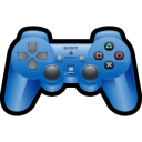 gaming, sony, blue, playstation, game icon