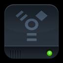 disk,dark,firewire icon