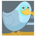 animal, social, sn, bird, twitter, social network, squidge icon