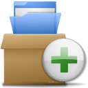 plus, folder, add, archive icon