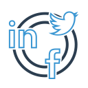advertising, linkedin, communication, seo, social network icon