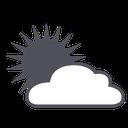 weather, sun, forecast, cloud icon