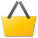 yellow, buy, basket, sell, shopping, cart, commerce, shopping cart icon