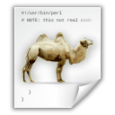 Application, Camel, Perl, x icon