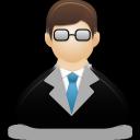 male, teacher icon