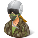 Occupations Pilot Military Female Light icon