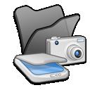 &Amp, Black, Cameras, Folder, Scanners icon