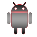 Android little robot logo icon