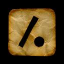 dot, slash, logo, square icon