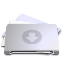 folder,drop,box icon