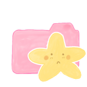 folder, candy, sad, ak, starry icon