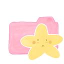 folder, candy, sad, ak, starry icon