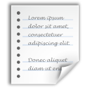 text, file, generic, document icon