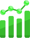 chart, analytics icon