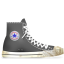 Converse, Dirty, Gray icon