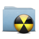 Folder Blue Burn icon