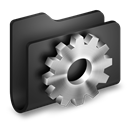Black, Developer, Folder icon