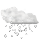 Status weather hail icon