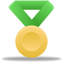 metal, green, gold icon
