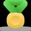 metal, green, gold icon