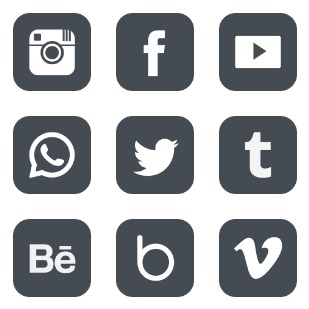 Social icon sets preview