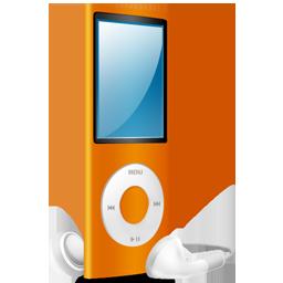 orange, nano, ipod, orange on icon