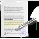 document, contract, signature icon