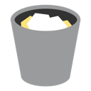 recycle, trash, recycle bin, bin, full icon