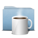 folder,blue,coffee icon