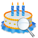 Birthday, Cake, Zoom icon