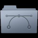 Folder, Graphite, Vector icon