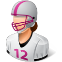 Female, Footballplayer, Light icon