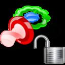 pacifier,unlock icon