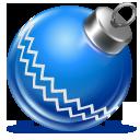 blue, ball, christmas icon