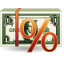 cash, rent, money, percentage icon