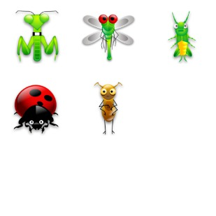 Tiny Bugs icon sets preview