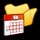 folder yellow scheduled tasks icon