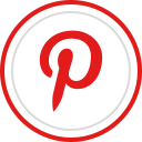social, pinterest, media, logo, brand icon