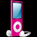 Ipod, Nano, On, Pink icon