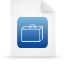 blue, paper, document, file icon