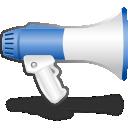 announcement, blog, advertising icon