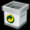 blank, bin, empty, recycle icon