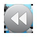 rew, grey, button icon