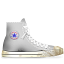 white, dirty, converse icon
