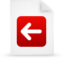 red, file, document, paper icon